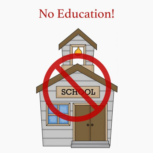 No education image